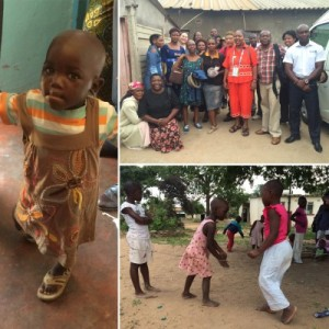 Far Left and Bottom: photos from the Matthew Rusike Childrens Home; Upper Right: photo from LESO - Life Empowerment Support Organization - which works to educate, assist, and provide resources about HIV and AIDS in the community.